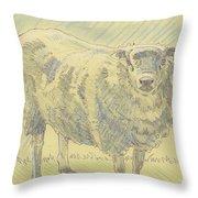 Sheep Sketch Throw Pillow