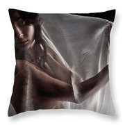 Sheer Nude Throw Pillow