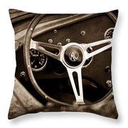 Shelby Ac Cobra Steering Wheel Emblem Throw Pillow