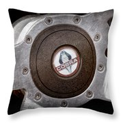 Shelby Cobra Steering Wheel Emblem Throw Pillow