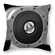 Shelby Cobra Steering Wheel Throw Pillow