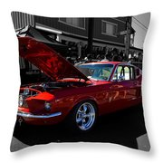Shelby Gt 500 Mustang Throw Pillow