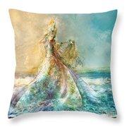 Shell Maiden Throw Pillow