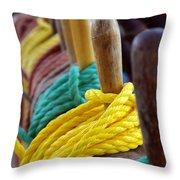 Ship Rigging Throw Pillow by Carlos Caetano