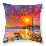 Ships Of Freedom Throw Pillow
