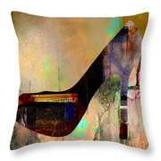 Shoe Art Throw Pillow