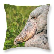 Shoebill Balaeniceps Rex Uganda Africa Throw Pillow