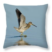 Short-billed Dowitcher Throw Pillow