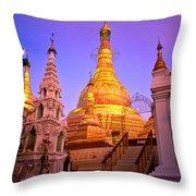 Shwedagon Paya - Yangoon Throw Pillow