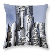 Sibelius Pipe Monument - Helsinki Finland Throw Pillow