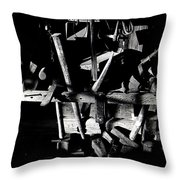 Sid Wilson's Tools For Building Stagecoaches Pick 'em Up Ranch Tombstone Arizona 1979 Throw Pillow