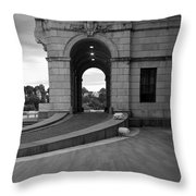 Side Entrance  Throw Pillow
