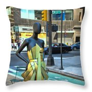 Sidewalk Catwalk 14 Throw Pillow