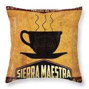 Sierra Maestra Cuban Coffee Throw Pillow
