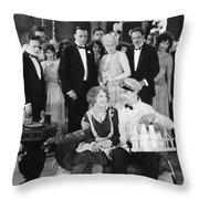Silent Film Still: Milkman Throw Pillow