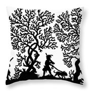 Silhouette Hunting Throw Pillow