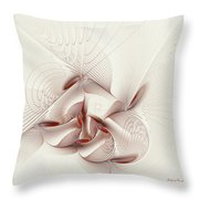 Silver And Red Throw Pillow by Deborah Benoit