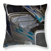 Silver Flame Throw Pillow