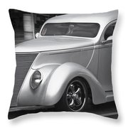 Silver Ford Throw Pillow