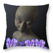 Simplicity In Purple Throw Pillow
