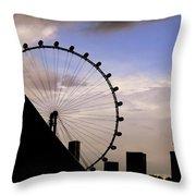 Singapore Cityscape Throw Pillow