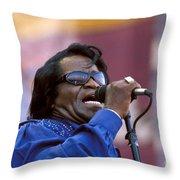 Singer James Brown Throw Pillow