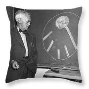 Sir Alexander Fleming Throw Pillow