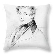 Sir Charles Wheatstone (1802-1875) Throw Pillow