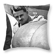 Sir Frank Whittle Throw Pillow
