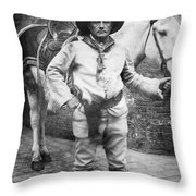 Sir Genille Cave Brown Cave (1869-1929) Throw Pillow