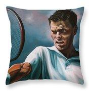 Sjeng Schalken Throw Pillow by Paul Meijering