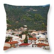 Skiathos Island Greece Throw Pillow