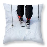 Skier Throw Pillow