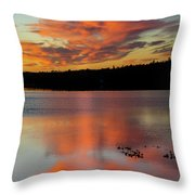 Skilak Lake, Alaska, The Aleutian Throw Pillow
