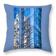 Sky Blue Glass Throw Pillow