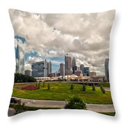 Skyline Of Charlotte Towers Throw Pillow