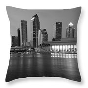 Skyline Of Tampa Along Waterfront Throw Pillow