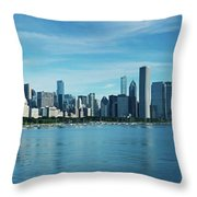 Skylines At The Waterfront, Lake Throw Pillow