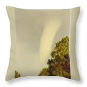 Skyscape - Tornado Formed Throw Pillow