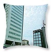 Skyscrapers In Leeuwarden-netherlands  Throw Pillow