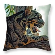 Sleepy Girl Throw Pillow