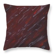 Red Dreamy Throw Pillow