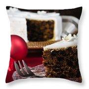Slice Of Christmas Cake Throw Pillow
