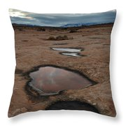 Slickrock In Arches National Park Throw Pillow