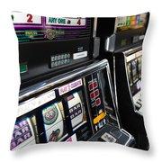 Slot Machines At An Airport, Mccarran Throw Pillow