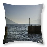 Small Port In Backlight Throw Pillow
