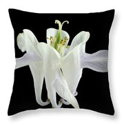 Small White Flowers Throw Pillow