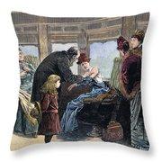 Smallpox Vaccination, 1885 Throw Pillow