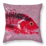 Gyotaku Snapper Throw Pillow