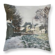 Snow At Argenteuil Throw Pillow by Claude Monet